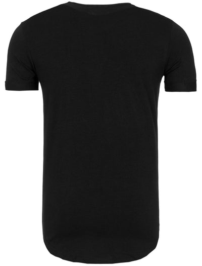 Y&R Men Graphic NY New York USA T-Shirt - Black
