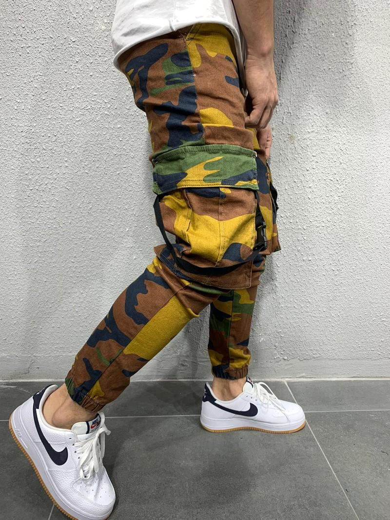 Cful Camouflage Cargo Joggers Jeans - Camo 4625