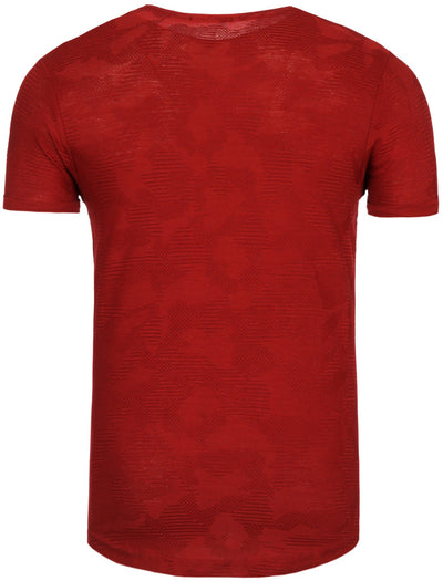 Y&R Men Casual Scars T-Shirt - Red