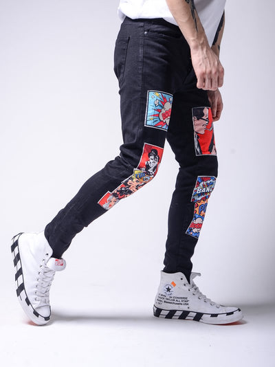 Comic Book Jeans - Black 4676