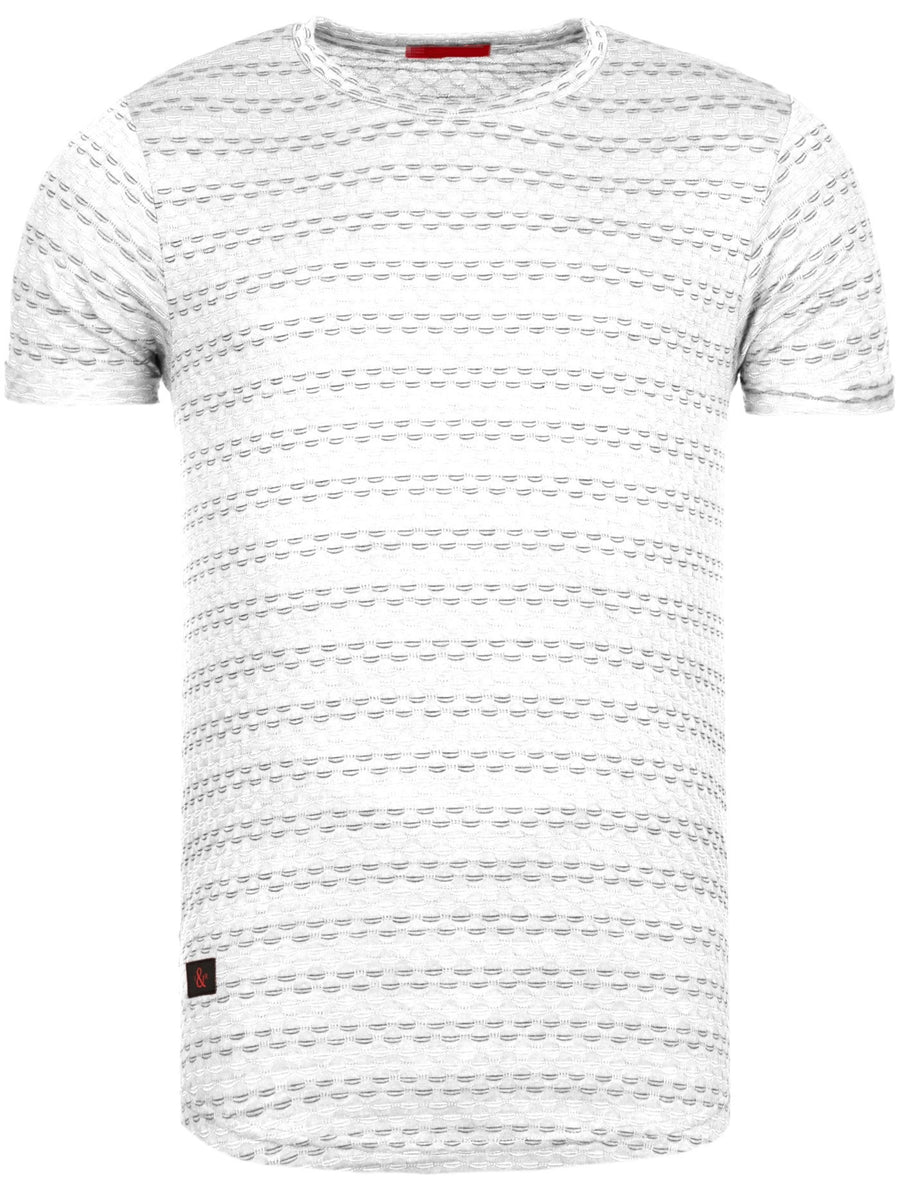 Y&R Men Casual Nails T-Shirt - White