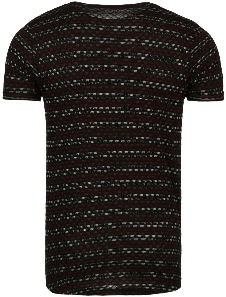 Y&R Men Casual Nails T-Shirt - Black