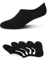 No Show, Non-Slip Black Socks