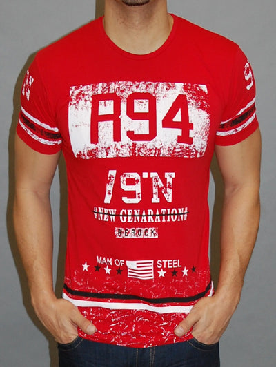 R&R Men R94 New Generation Graphic T-shirt - Red