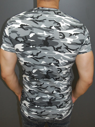 R&R Men X Camo T-shirt - Gray