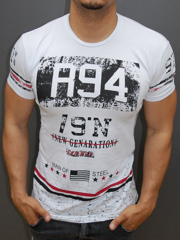 R&R Men R94 New Generation Graphic T-shirt - White 2
