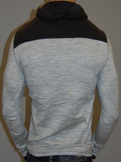 K&D MENS STYLISH POCKET HOODIE SWEATER - GRAY - FASH STOP