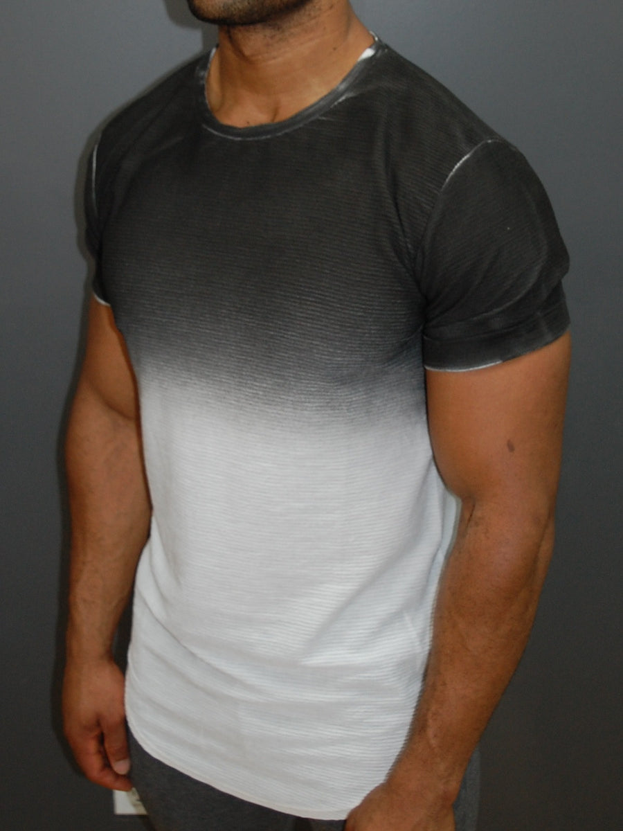 Y&R Men Fade Dye T-Shirt - Dark Gray