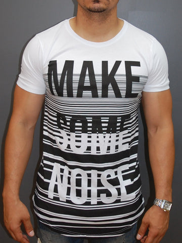 "N&R Men ""Make Some Noise"" T-shirt - White"