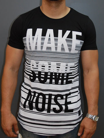 "N&R Men ""Make Some Noise"" T-shirt - Black"