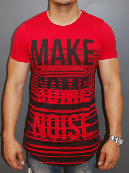 "N&R Men ""Make Some Noise"" T-shirt - Red"