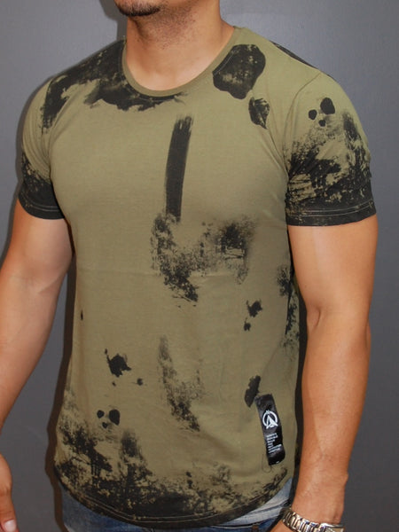 N&R Men Randstains T-shirt - Army Green