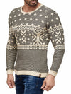 K&D Men Stylish Snow Pullover Sweater - Beige - FASH STOP