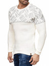 K&D Men Stylish Maze Top Pullover Sweater - Cream - FASH STOP
