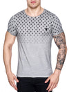 K&D Men Top Skulls Dyed T-shirt - Gray - FASH STOP
