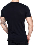 K&D Men Mesh Top Side Zipper T-shirt - Black - FASH STOP
