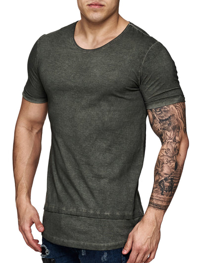 F&S Men Dyed T-Shirt - Army Green - FASH STOP