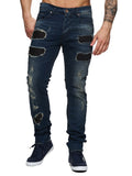 F&S Men Slim Fit Denim Siro Ripped Distressed Jeans - Blue