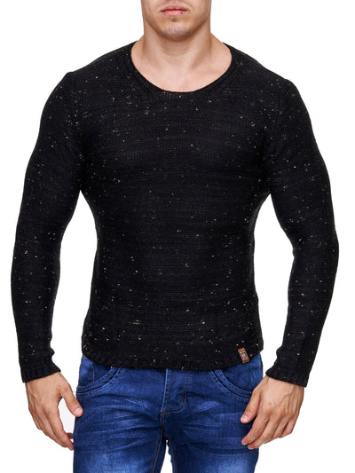 K&D Men Stylish Space Sweatshirt - Black - FASH STOP
