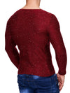 K&D Men Stylish Space Sweatshirt - Red - FASH STOP