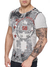 K&D Men Resistance Graphic T-shirt -  Gray - FASH STOP