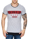 F&S Men Power Blues Long T-Shirt - Gray - FASH STOP