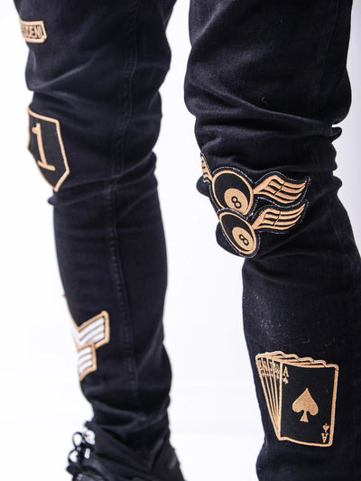 Tout Patches Jeans - Black G1