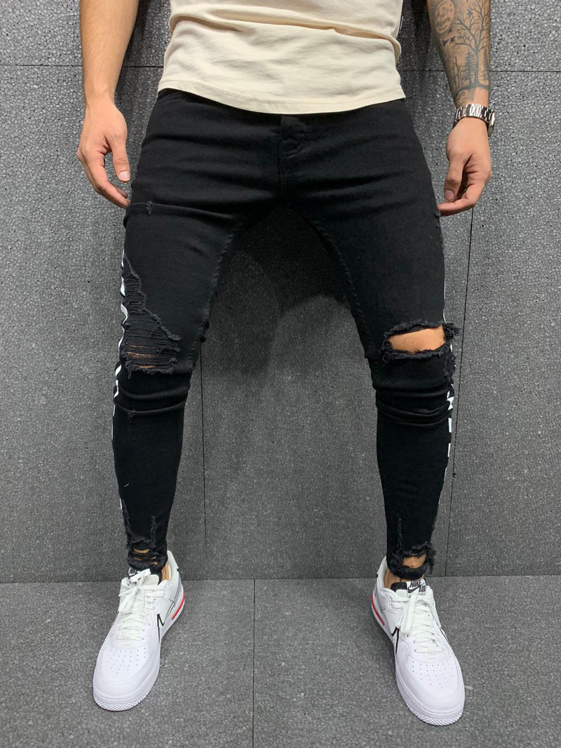 Direct Skinny Ripped Jeans - Black G4