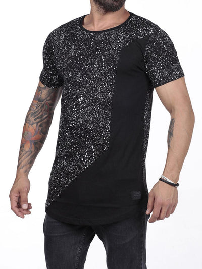 N&R Men Neat Paint Splash T-shirt - Black 2