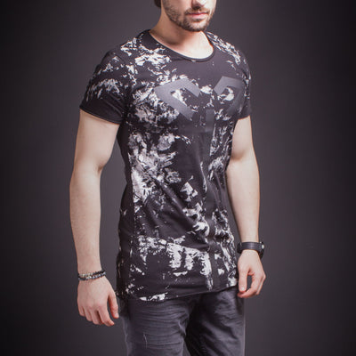 2Y Men Graphic Decept T-Shirt - Black - FASH STOP
