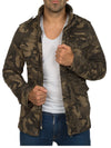 Y&R Men Stylish Camouflage Mid Length Jacket