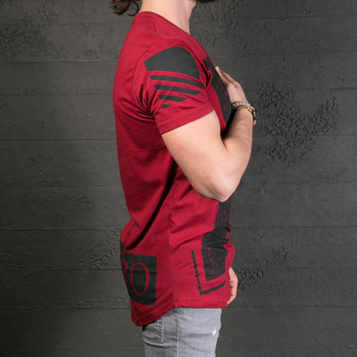 K&B Men X Deep Neck T-shirt - Red - FASH STOP