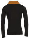 R&R Mens Stylish Mock Neck Sweater - Black