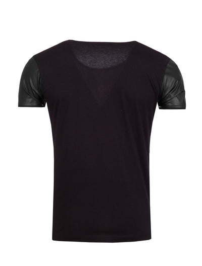 R&R Men Sexy Lady Studded Graphic T-Shirt - Black