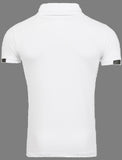R&R Mens Pit Mock Neck Shirt - White