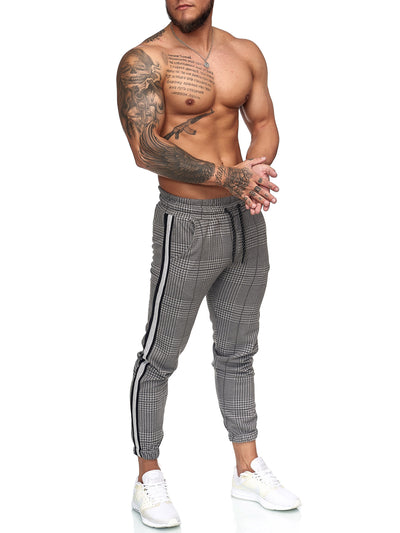 Patta Plaid Sweatpants Joggers - Dark Gray Gray X0008D