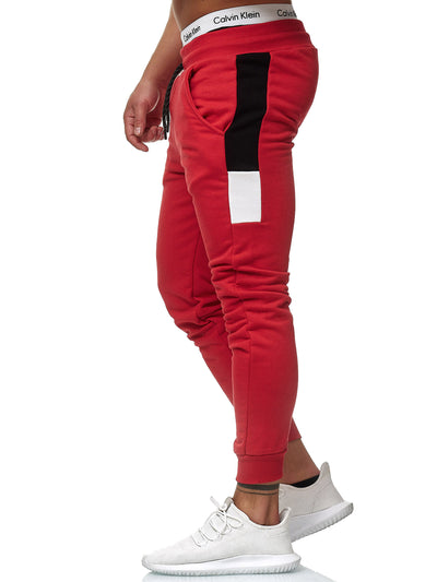 Doms Sweatpants Joggers - Red X0009B - FASH STOP