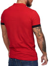 Planu Ringed Sleeves Polo T-Shirt - Red X0015C