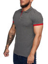 Planu Ringed Sleeves Polo T-Shirt - Dark Gray X0015D