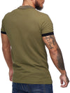 Planu Ringed Sleeves Polo T-Shirt - Army Green X0015E