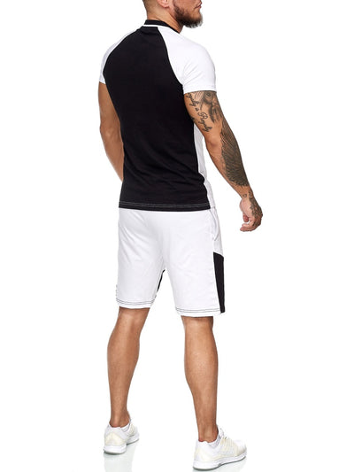 Palu Polo Shirt + Short  Ensemble - White Black X0017B