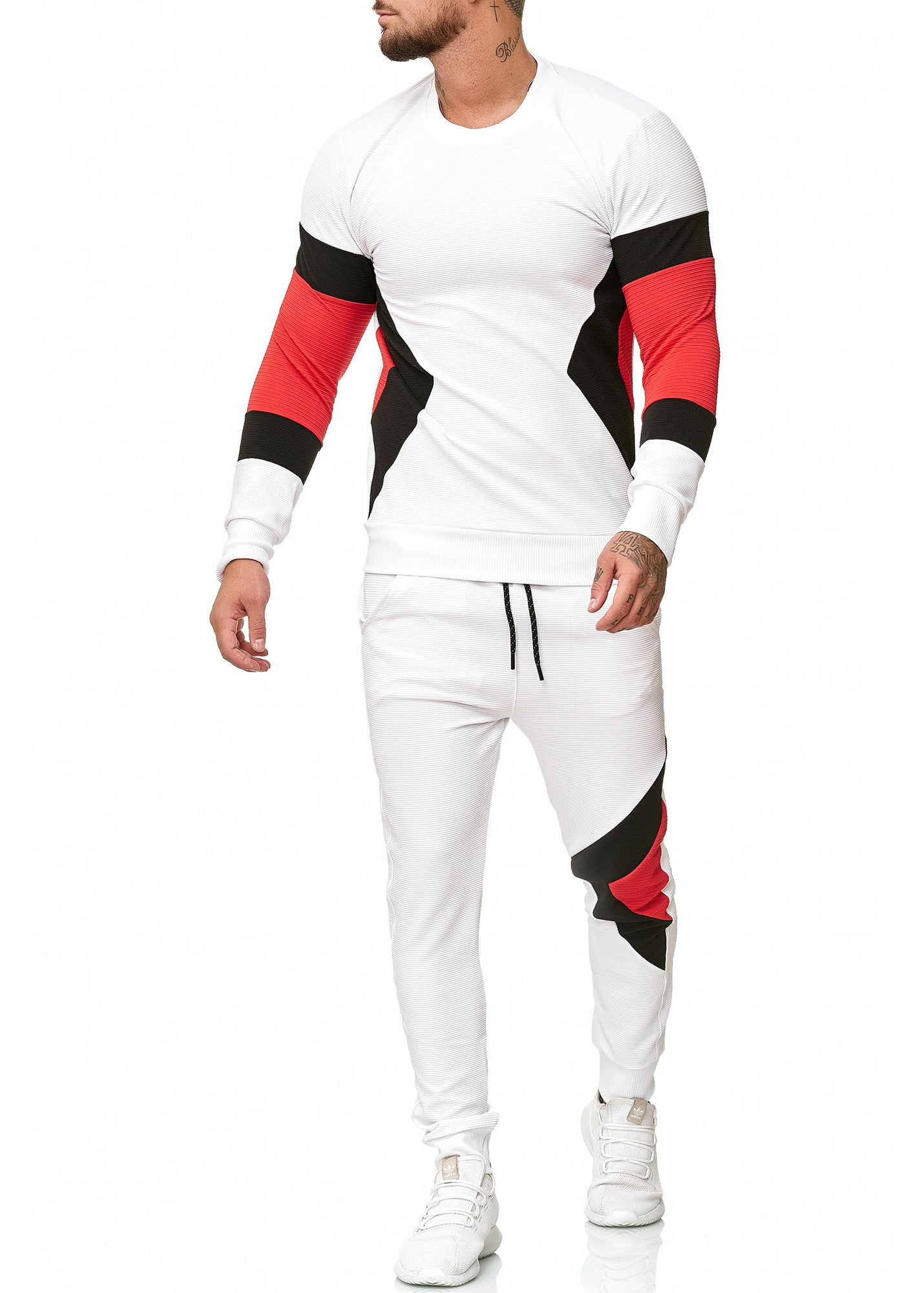Sizag TrackSuit Sweatpant Sweater - White X0020B