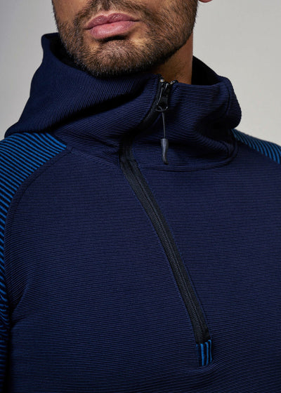 Sidetrack TrackSuit Sweatpant Hoodie Sweater Jacket - Navy Blue X0022
