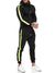 Jet TrackSuit Sweatpant Hoodie Sweater Jacket - Black Neon Green X0028A - FASH STOP