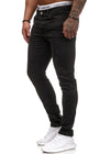 Klok Paint Stained Slim Fit Jeans - Black X0030