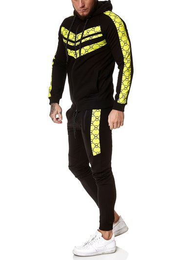 Gusto TrackSuit - Black Neon Green X0050B