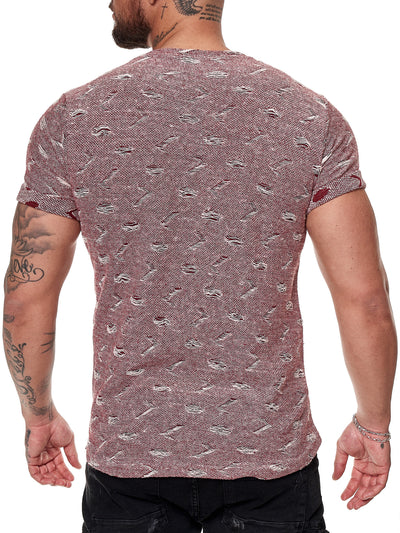 Tranche Ripped T-Shirt - Red X51C