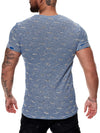 Tranche Ripped T-Shirt - Blue X51D