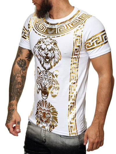 Falion Graphic T-Shirt - White Gold  X52B