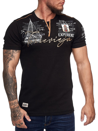 """Torrevieja"" Print Graphic T-Shirt - Black X58A"